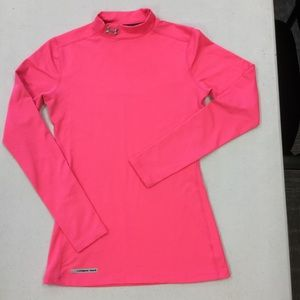 Under Armour Womens Coldgear Fitted Mock Shirt